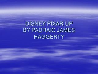 DISNEY PIXAR UP BY PADRAIC JAMES HAGGERTY