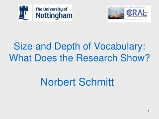 Size and Depth of Vocabulary:  What Does the Research Show?
