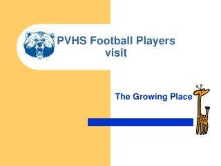 PVHS Football Players visit