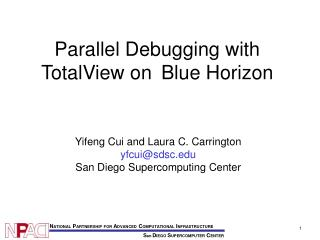 Parallel Debugging with TotalView on  Blue Horizon