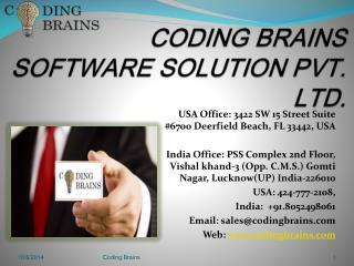 CODING BRAINS SOFTWARE SOLUTION PVT. LTD.