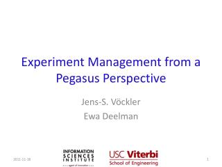 Experiment Management from a Pegasus Perspective