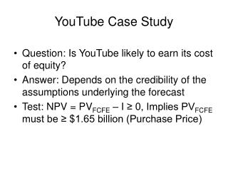YouTube Case Study