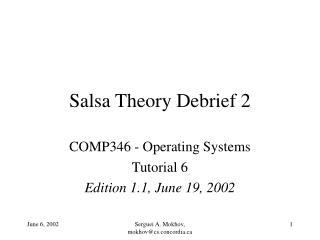 Salsa Theory Debrief 2