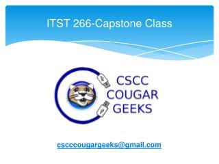 ITST 266-Capstone Class