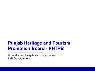 Punjab Heritage and Tourism Promotion Board - PHTPB