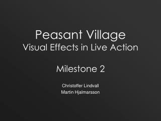 Peasant Village Visual Effects in Live Action Milestone 2