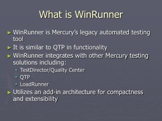 What is WinRunner