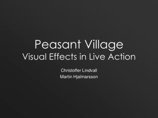 Peasant Village Visual Effects in Live Action