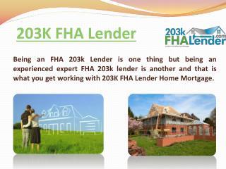 FHA 203k Home Loans