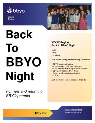 Back  To  BBYO  Night