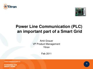 Power Line Communication (PLC)   an important part of a Smart Grid
