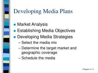 Developing Media Plans