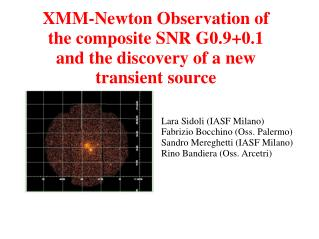 XMM-Newton Observation of the composite SNR G0.9+0.1  and the discovery of a new transient source