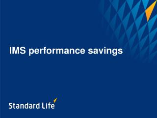 IMS performance savings
