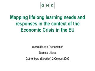 Mapping lifelong learning needs and responses in the context of the Economic Crisis in the EU