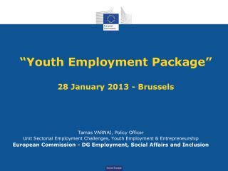 """Youth Employment Package"" 28 January 2013 - Brussels"