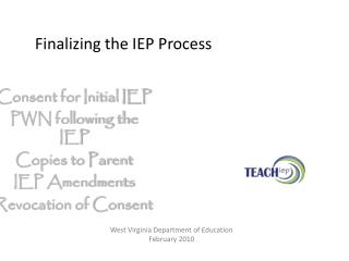 Finalizing the IEP Process