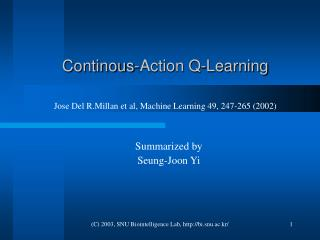 Continous-Action Q-Learning