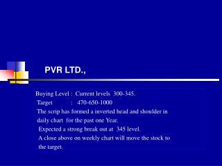 PVR LTD.,