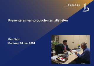 Presenteren van producten en  diensten