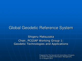 Global Geodetic Reference System
