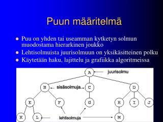 Puun määritelmä