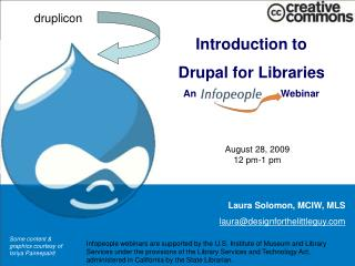 Introduction to Drupal for Libraries An                               Webinar