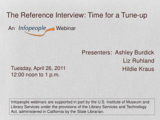 The Reference Interview: Time for a Tune-up