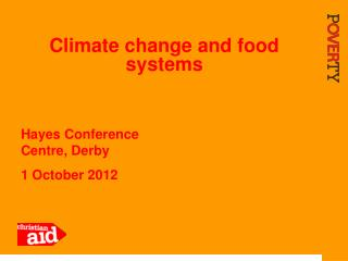 Climate change and food systems