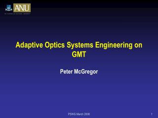 Adaptive Optics Systems Engineering on GMT