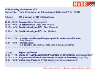 NVBR GIS-dag 22 november 2005