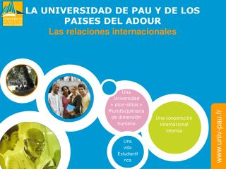 LA UNIVERSIDAD DE PAU Y DE LOS  PAISES DEL ADOUR Las relaciones internacionales