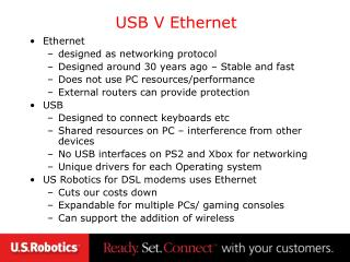 USB V Ethernet