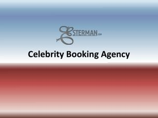 celebrity booking agency