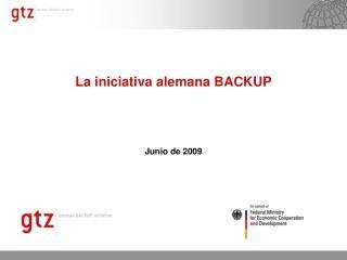 La iniciativa alemana BACKUP