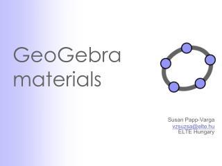 GeoGebra materials
