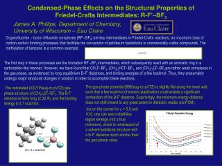 Condensed-Phase Effects on the Structural Properties of  Friedel-Crafts Intermediates: R-F'–BF 3