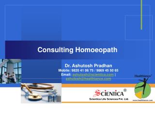 Consulting Homoeopath