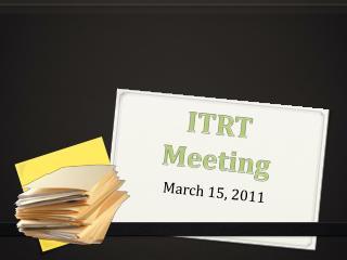 ITRT Meeting