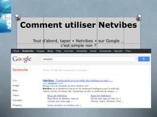 Comment utiliser Netvibes