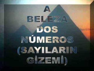 A BELEZA DOS NÚMEROS (SAYILARIN GİZEMİ)