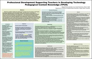 Professional Development Supporting Teachers in Developing Technology Pedagogical Content Knowledge TPCK