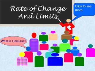 Rate of Change And Limits