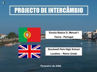 PROJECTO DE INTERCÂMBIO