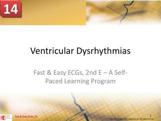 Ventricular Dysrhythmias