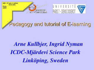 Pedagogy and tutorial of E-learning