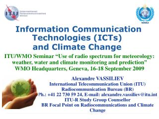 Information Communication Technologies (ICTs)  and Climate Change