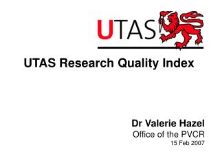UTAS Research Quality Index