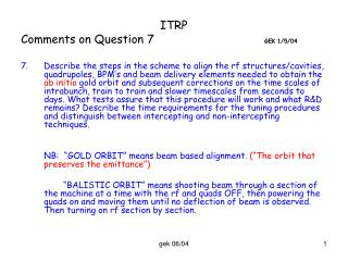 ITRP Comments on Question 7	 GEK 1/5/04
